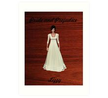 Lizzy Bennet from Pride and Prejudice Art Print