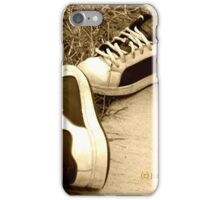 Lost Shoes on the Sidewalk iPhone Case/Skin
