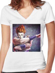 Hisoka Women's Fitted V-Neck T-Shirt