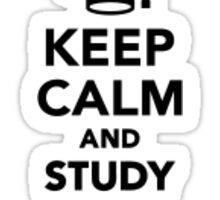 Keep Calm And Study On Sticker