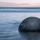 A Nude Nut at Moeraki Boulders by Barbara Burkhardt