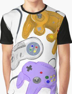 Nintendo Controller Evolution Graphic T-Shirt
