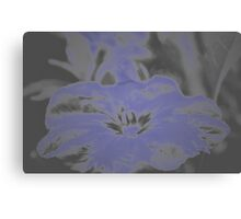 Bloom in Neon Blue Canvas Print