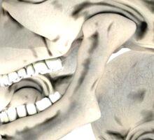 Three Skull T_shirt Sticker