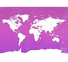 World map io Photographic Print
