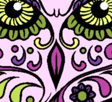 pink owl Sticker
