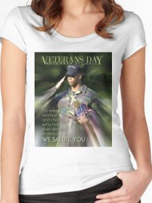 Veterans Day 2016 Poster Women's Fitted Scoop T-Shirt