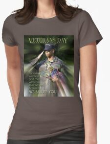 Veterans Day 2016 Poster Womens Fitted T-Shirt