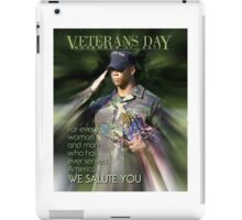Veterans Day 2016 Poster iPad Case/Skin