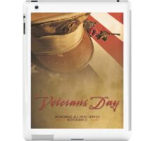 Veterans Day 2016 Bronze Star (valor) Poster iPad Case/Skin