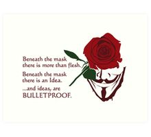 Quotes and quips - ideas are bulletproof Art Print