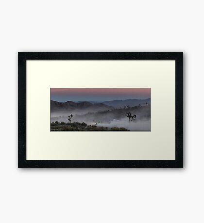 Desert Rally Sunset Landscape Framed Print