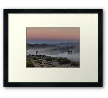 Desert Rally Sunset Framed Print