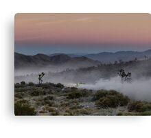 Desert Rally Sunset Canvas Print