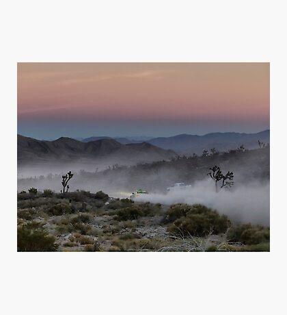 Desert Rally Sunset Photographic Print
