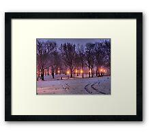 Winter Sledding Framed Print
