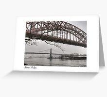 Astoria Bridges Greeting Card