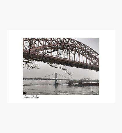 Astoria Bridges Photographic Print