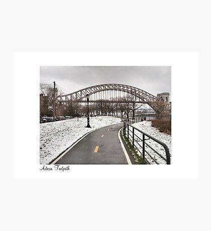 Astoria Footpath Photographic Print
