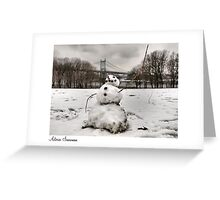 Astoria Snowman Greeting Card