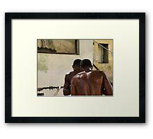 Sparring, Havana Framed Print