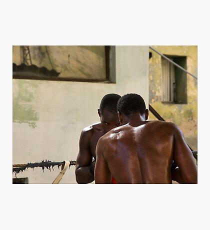 Sparring, Havana Photographic Print