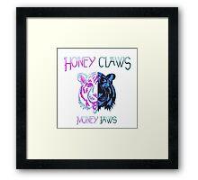 Honey Claws, Money Jaws Framed Print