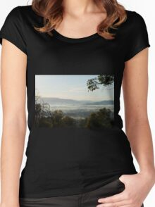 """""""Valley View"""", Yarra Valley, Victoria, Australia Women's Fitted Scoop T-Shirt"""