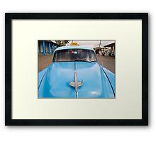 Blue Taxi - Vinales Framed Print