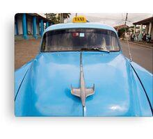 Blue Taxi - Vinales Canvas Print