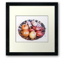 onion, shallot, garlic Framed Print