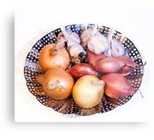 onion, shallot, garlic Metal Print