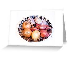 onion, shallot, garlic Greeting Card