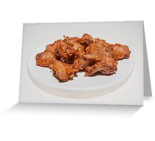 fried chicken wings Greeting Card