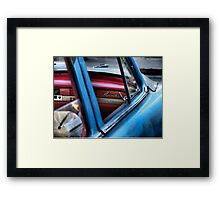 Red and Blue and Plymouth Framed Print