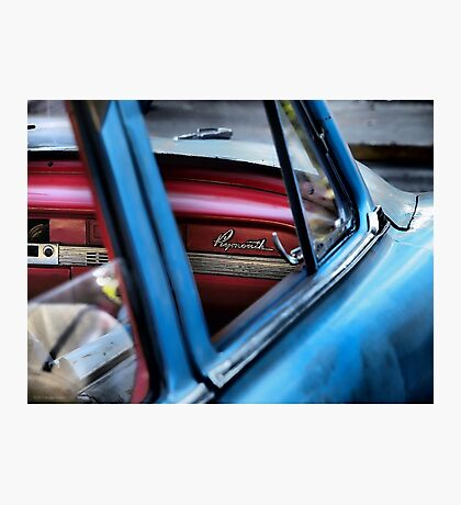 Red and Blue and Plymouth Photographic Print