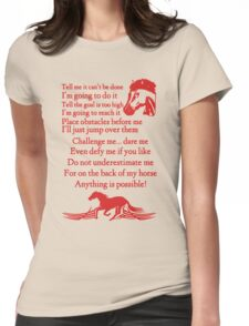Horse Challenge Womens Fitted T-Shirt