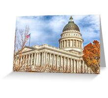 Utah State Capitol Building Greeting Card