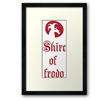 Shire of Frodo Framed Print