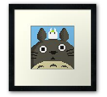 Pixel Totoro Framed Print