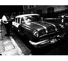 Havana Taxi Driver Photographic Print