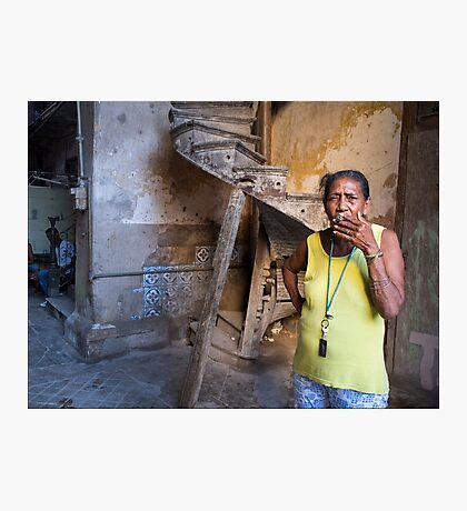 Cigar Smoker Photographic Print