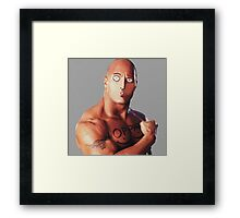 One Rock Man - Parody Framed Print