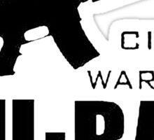 chiraq city warfare Sticker