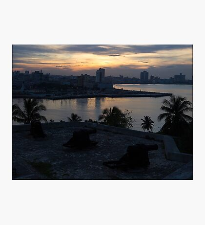 The Sun Also Sets Over Havana Photographic Print