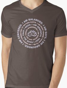 Yoga Beautiful Saying Mens V-Neck T-Shirt