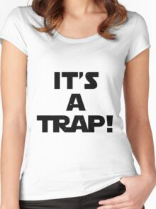Star Wars - It's A Trap! Women's Fitted Scoop T-Shirt