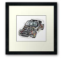 Transparant Car Framed Print