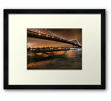 The Lights of the Triborough Bridge Framed Print
