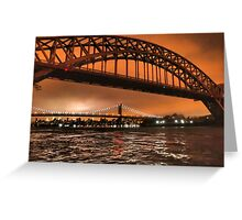 The Two Bridges of Astoria Greeting Card